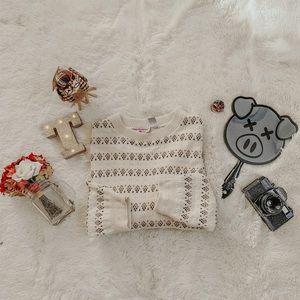 Vintage Oversized Boyfriend Cream Sweater SZ L